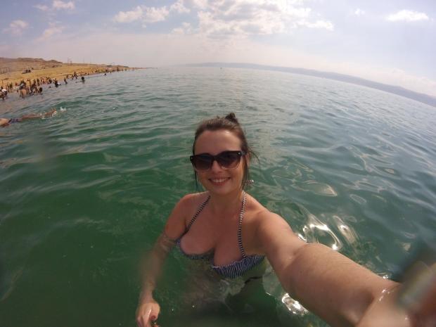 Selfies at the Dead Sea Jordan