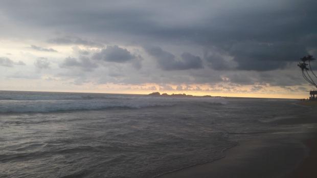 Sunset at Hikkaduwa beach, Sri Lanka