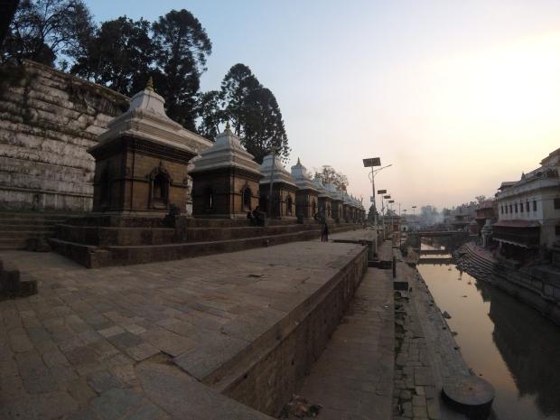Sunset at Pashupatinath Temple, Kathmandu, Nepal, 2015