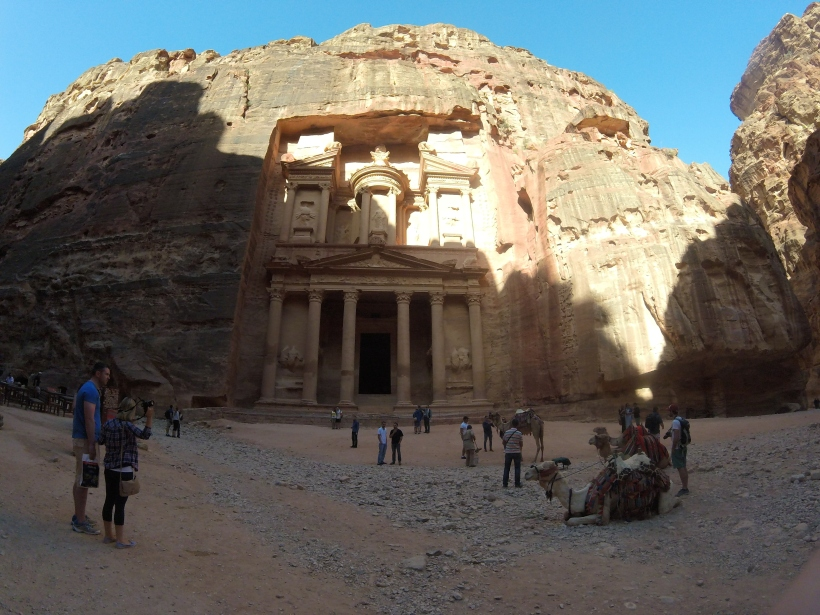 The treasury in Petra Jordan, travel