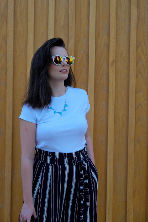 Rayban sunglasses, zara paper bag trousers, summer style, blogger