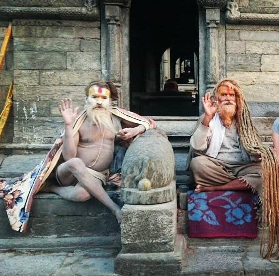 Sadhus (Saints) at Pashupatinath Temple, Kathmandhu, Nepal, 2015