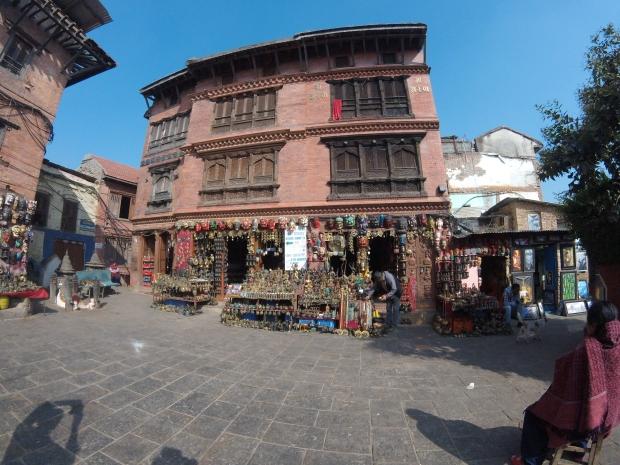 Shops at Swayambhunath Temple, Kathmandu, Nepal 2015