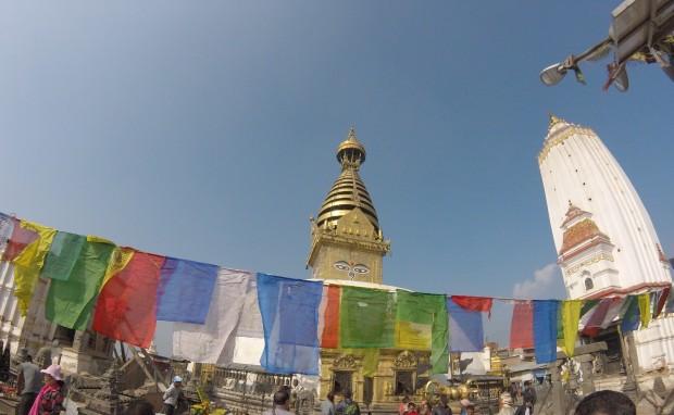 Buddha Eyes at Swayambhunath Temple, Kathmandu, Nepal, 2015
