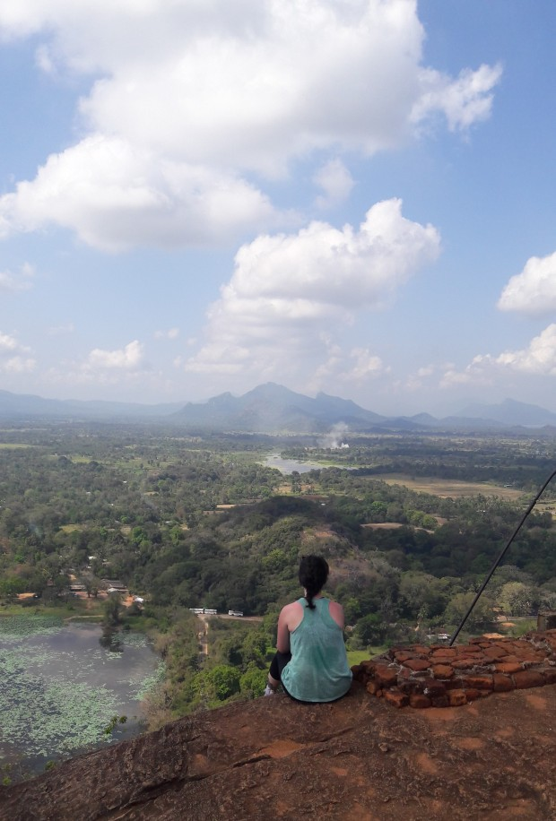 Stunning views from Sigiriya Rock, Sri Lanka