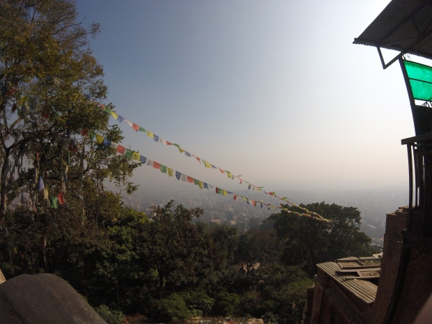 View of Kathmandu from Swayambhunath Temple, Nepal 2015