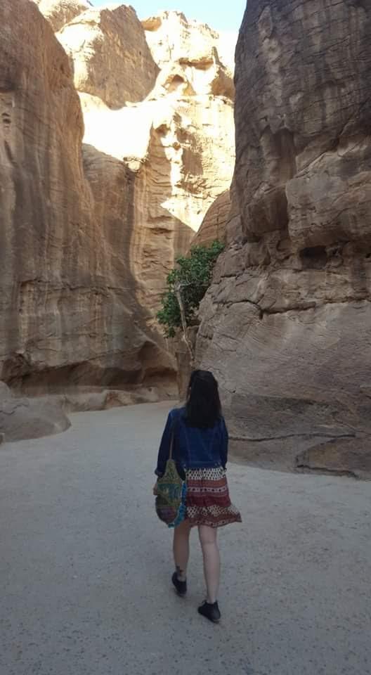 Wandering through Canyons at Petra Jordan