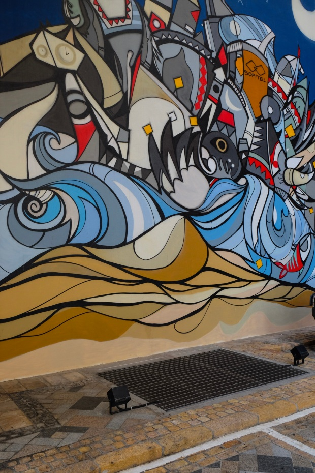 Street Art Mural at JBR, Dubai, UAE