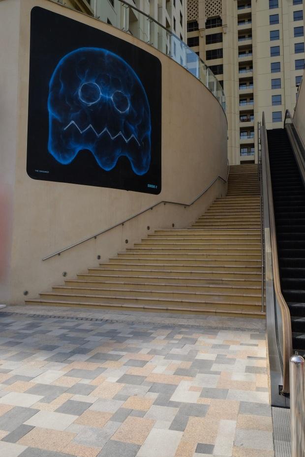 Ghost 3D Street Art, Mural, JBR, Dubai, UAE