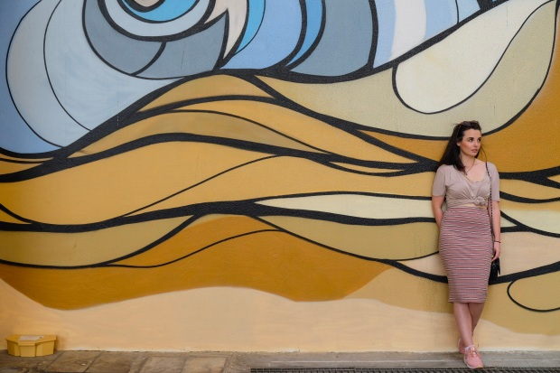 Street Art Mural at JBR, Dubai, fashion blogger