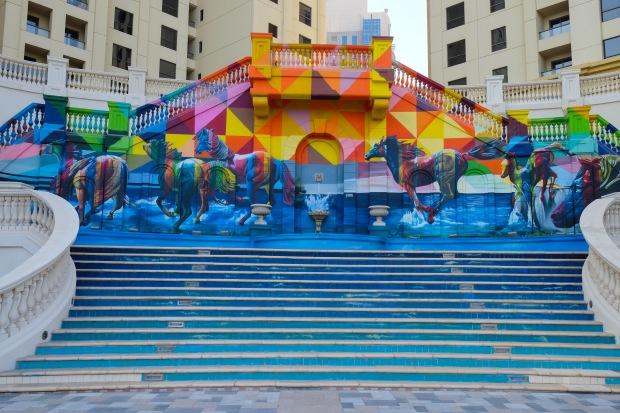 Street Art, Mural, JBR, Dubai, UAE