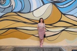 Street Art Mural at JBR Beach Dubai, fashion blogger