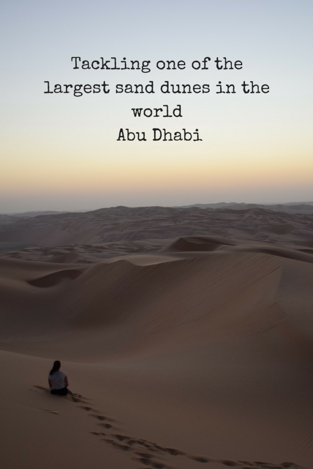 Tackling one of the largest sand dunes in the world, Abu Dhabi