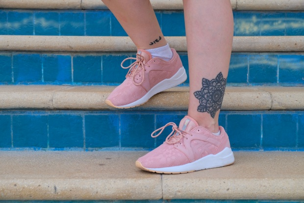 Pink Ascis at JBR Beach Dubai, fashion blogger, tattoos