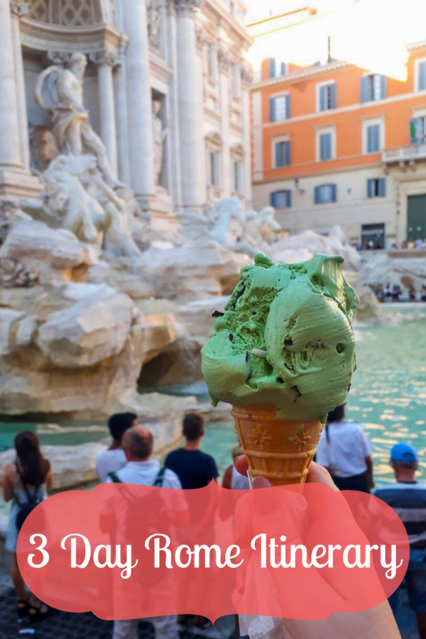 Gelate at the Trevi Fountain, Rome, Italy. 3 day Rome Itinerary