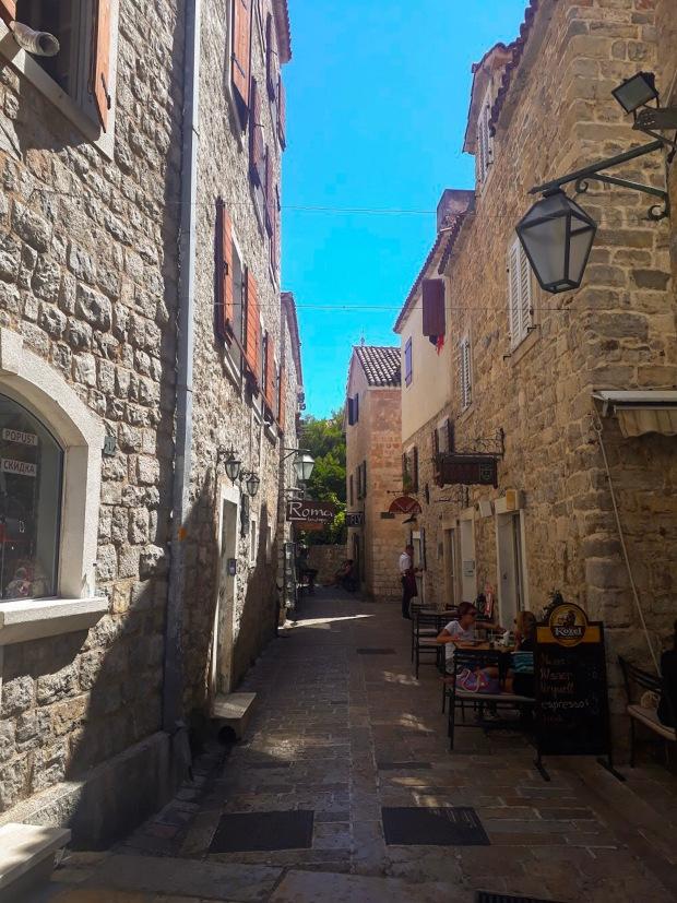 Alleyways in Budva, Montenegro the Balkans