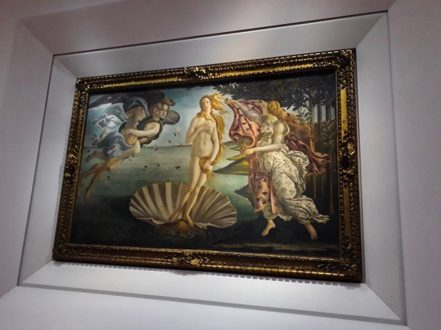Birth of Venus by Botticelli in Uffizi Gallery in Florence, Italy