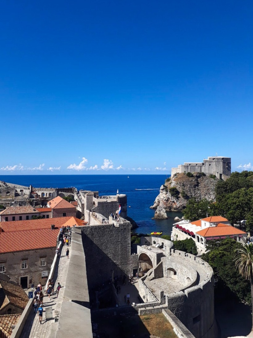 View of Fort Imperial from City Walls, Dubrovnik, Old Town, Croatia, Red Keep, Kings Landing, Game of Thrones