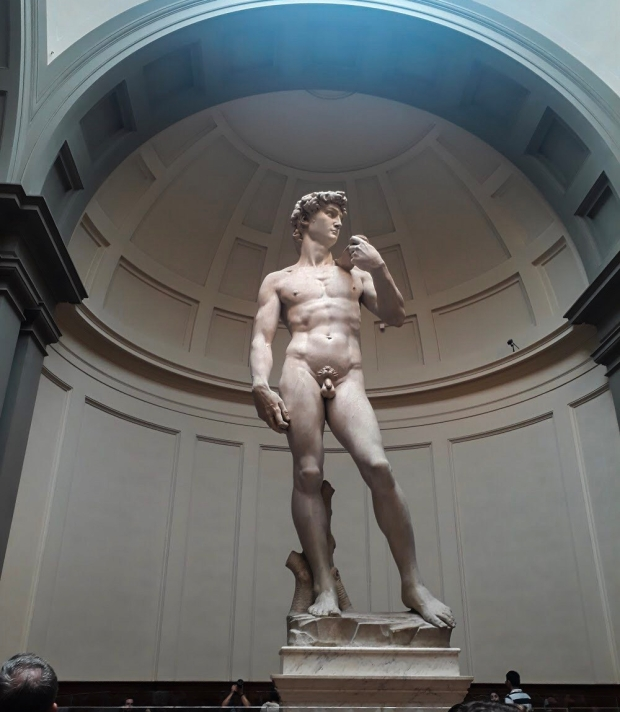 Michelangelo's David in Galleria dell'Accademia in Florence, Italy
