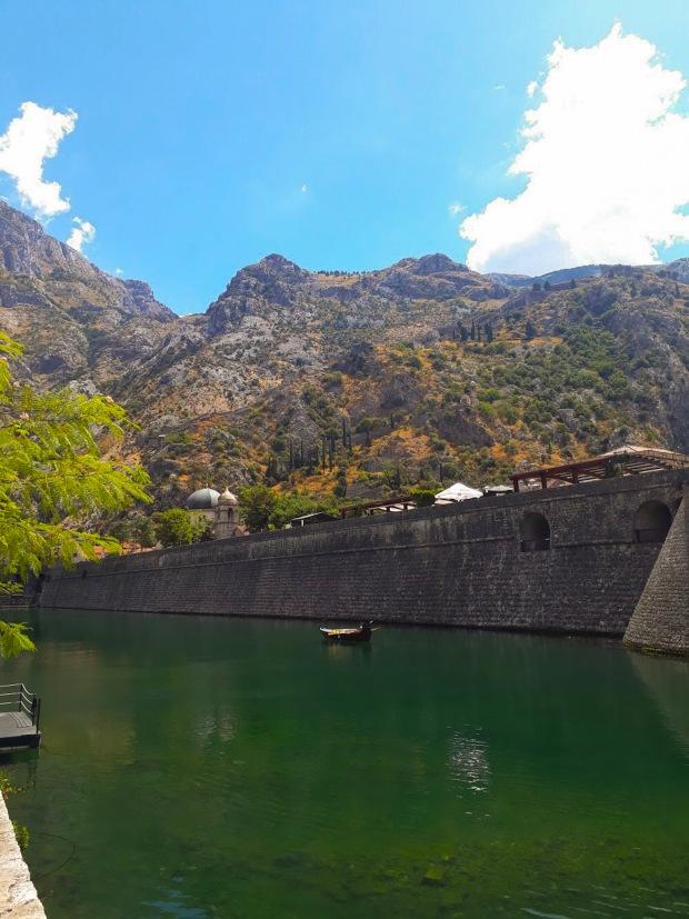 City Walls and Mountains Kotor Montenegro, the Balkans