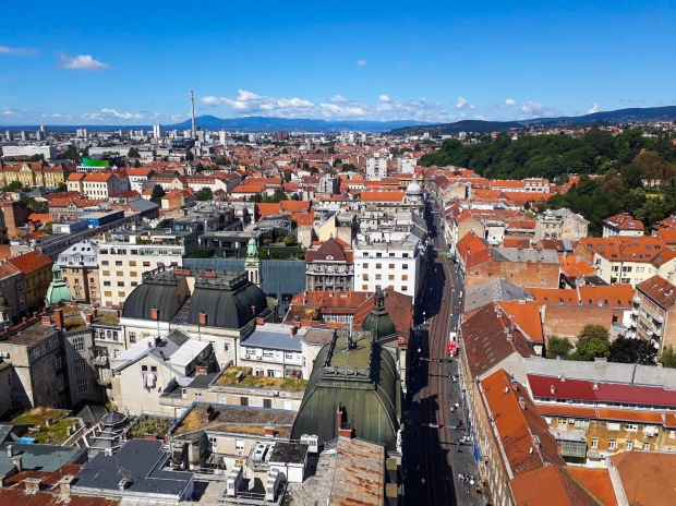 View of Zagreb Croatia, from Observation Deck