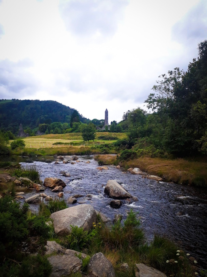 River and Round Tower at Glendalough Co. Wicklow Ireland