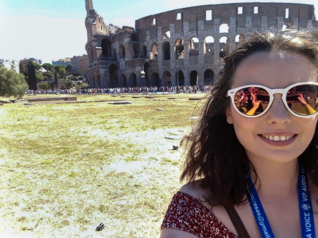Selfie at the Colosseum, Rome, Italy, one of the wonders of the world