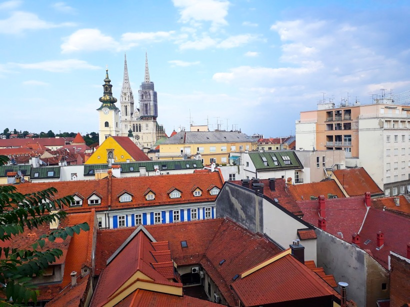 View of Cathedral of Assumption from Observation Deck, Zagreb, Croatia
