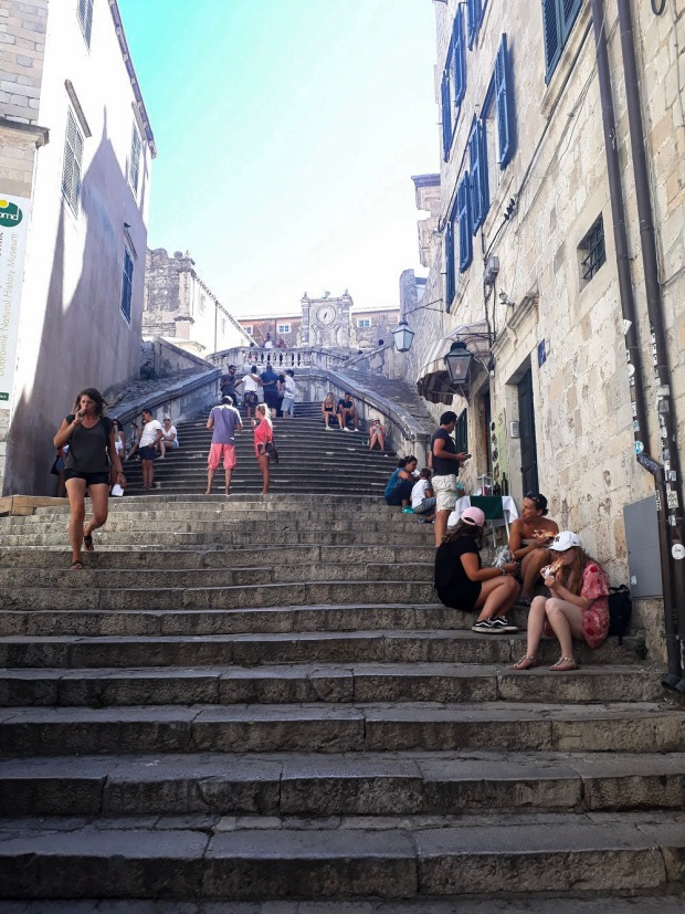 Stairs from Shame Shame scene in Game of Thrones, Dubrovnik Old Town, Croatia