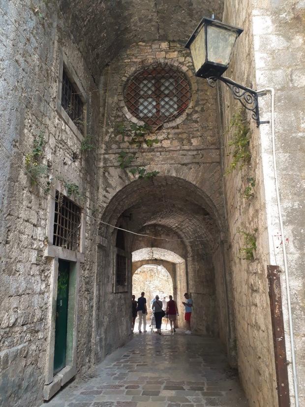 Stone Doorway in Kotor Montenegro, the Balkans