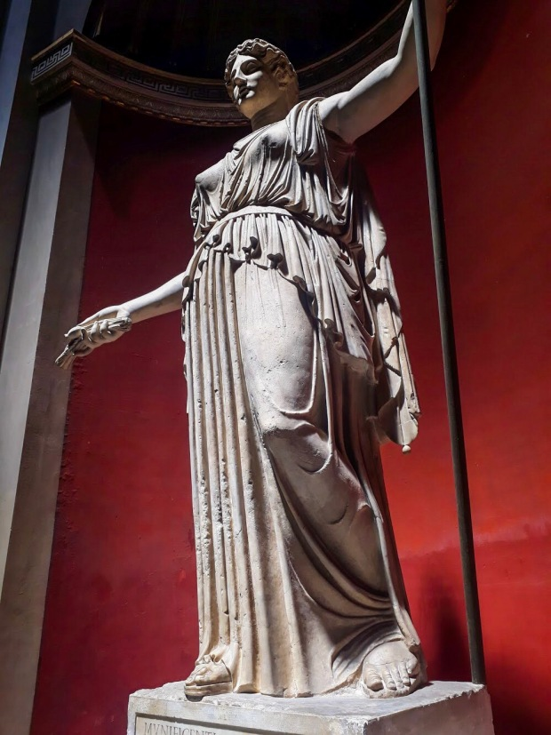 Statue in the galleries of the Vatican, Rome, Italy