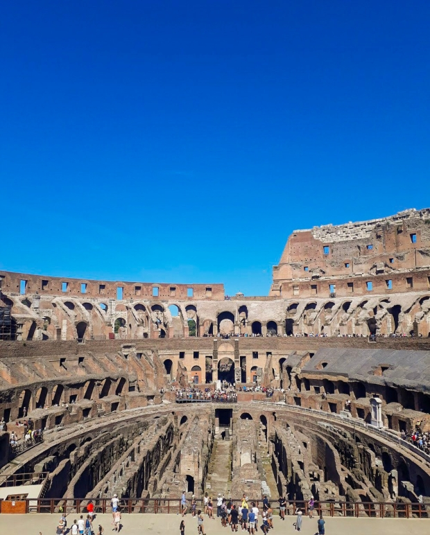 Summer at the Colosseum, Rome, Italy, one of the wonders of the world
