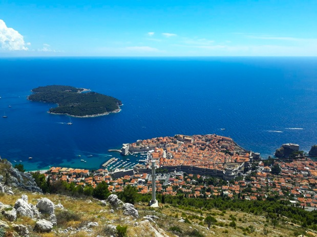 View of Dubrovnik old town from the Cable Car, Game of Thrones, Kings Landing, Croatia