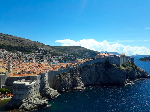 View of Dubrovnik old town from Fort Imperial aka the Red Keep, Game of Thrones, Kings Landing, Croatia