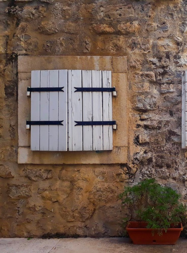 Window panels in Budva Montenegro the Balkans