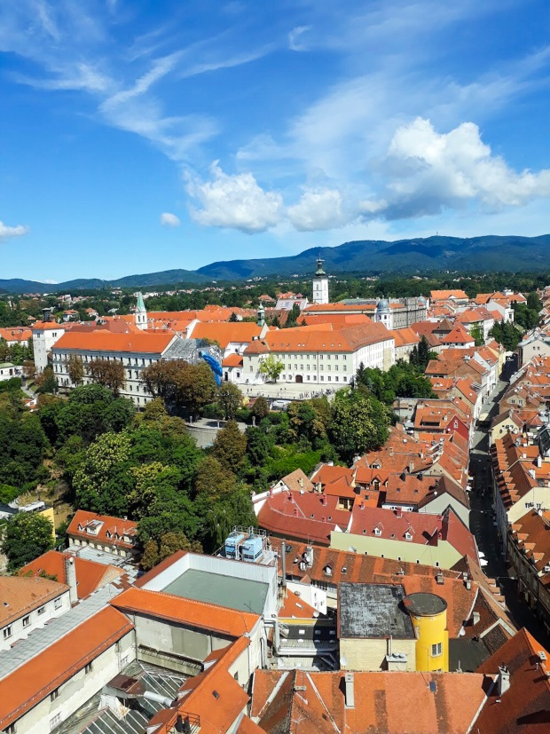 View from Observation Deck at Ban Jelačić Square, Zagreb, Croatia