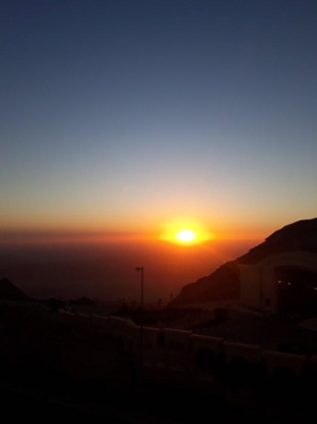 Sunset in Al Ain Al Jafeet Mountain UAE, Dubai roadtrip